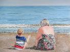 Watching the Waves on Teignmouth Beach, Devon